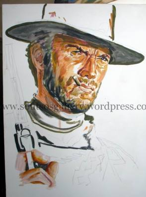 """The Good, The Bad And The Ugly""1966 (half-finished, detail)"
