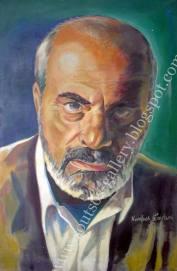 Original Painting Portrait, plastics 100x65cm canvas