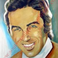 Tolis Voskopoulos/ Τόλης Βοσκόπουλος - αυθεντικός πίνακας ζωγραφίκης, πλαστικά χρώματα, 50Χ70εκ. καμβάς