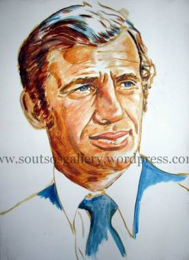 Jean-Paul Belmondo - portrait (Half-finished)