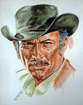 Lee Van Cleef - portrait (half-finished)