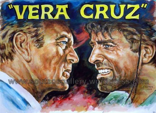"""Gary Cooper, Burt Lancaster """"Vera Cruz"""" 1954"""