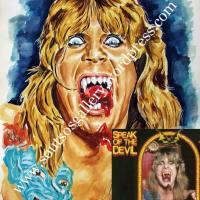 "Ozzy Osbourne, ""speak of the devil"" - original painting portrait, gouache"