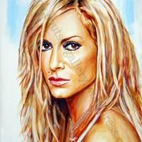 Anna Vissi / Άννα Βίσση – πορτραίτο, αυθεντικός πίνακας ζωγραφικής, πλαστικά χρώματα, 75Χ55εκ καμβάς