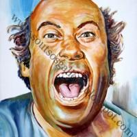 Thanasis Veggos / Θανάσης Βέγγος - πορτραίτο, αυθεντικός πίνακας ζωγραφικής, πλαστικά χρώματα, 75Χ55εκ καμβάς