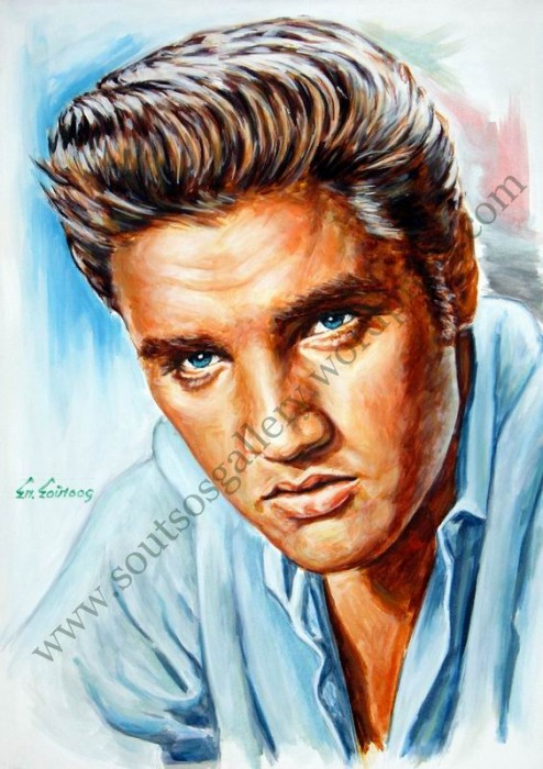 Elvis Presley portrait blog