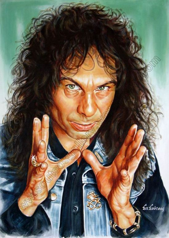 Ronnie James Dio – Original Painting Portrait, plastic & acrylic paints, 97x70cm canvas