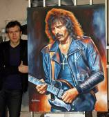Tony Iommi painting