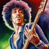 Phil Lynott, Thin Lizzy – Original Painting Portrait, plastic & acrylic paints, 97x130cm canvas