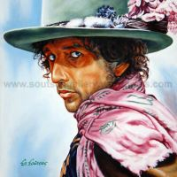 Bob Dylan – Original Painting Portrait, plastic & acrylic paints, 97x70cm canvas